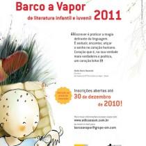 Inscrições para o 7º Prêmio Barco a Vapor
